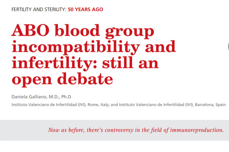 ABO blood group incompatibility and infertility: still an open debate